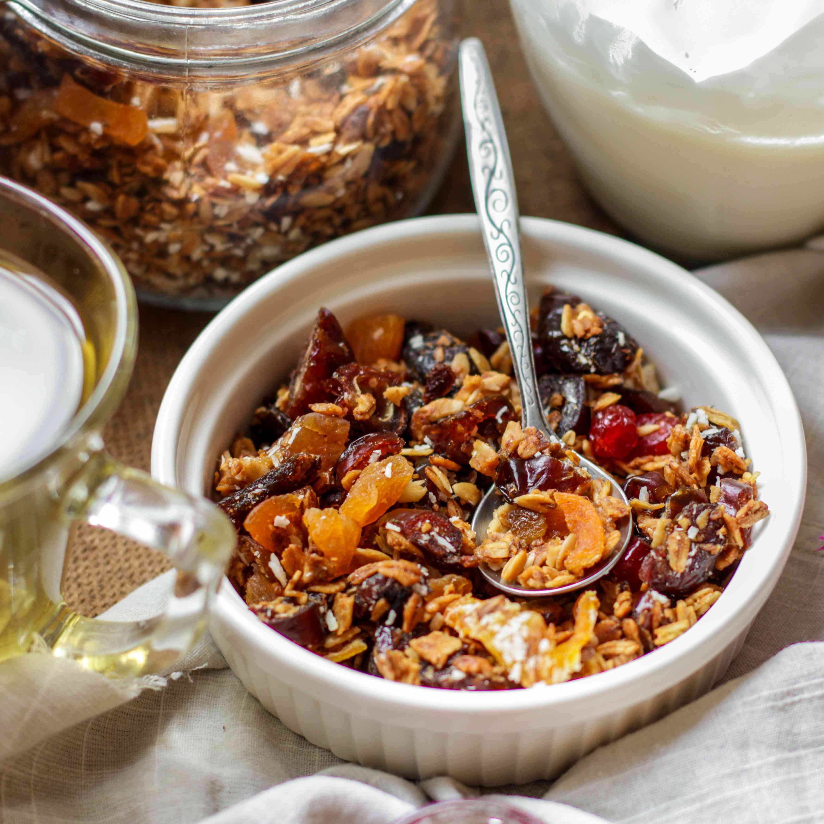Granola with dried fruits (muesli with fruit and berries)
