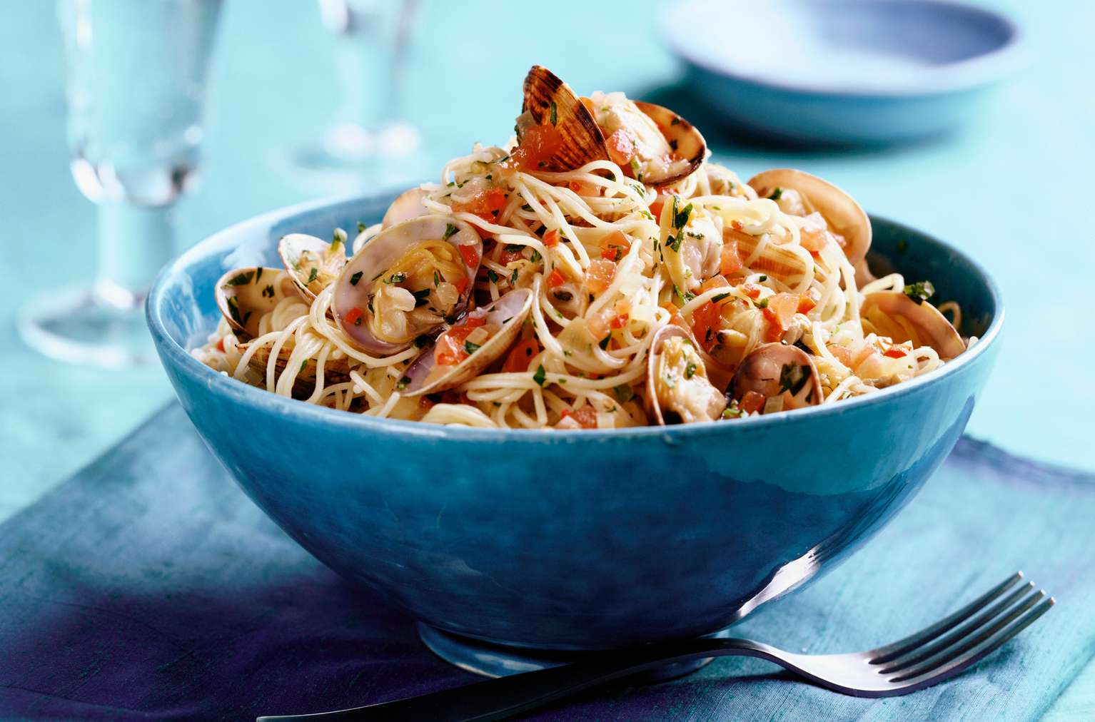 Pasta With Shrimp, Squid, Clams, and Mussels