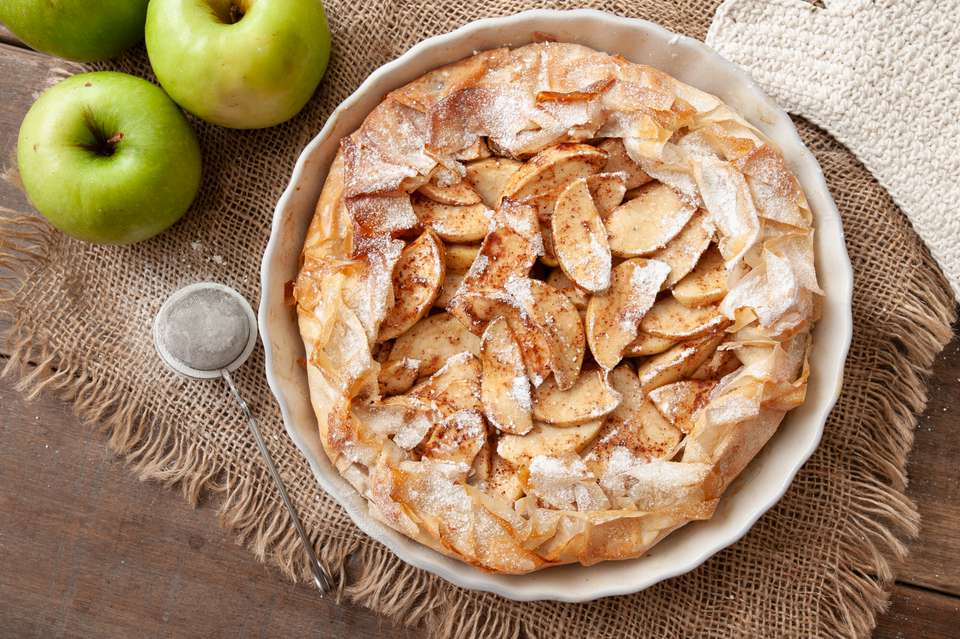 Apple phyllo pie recipe