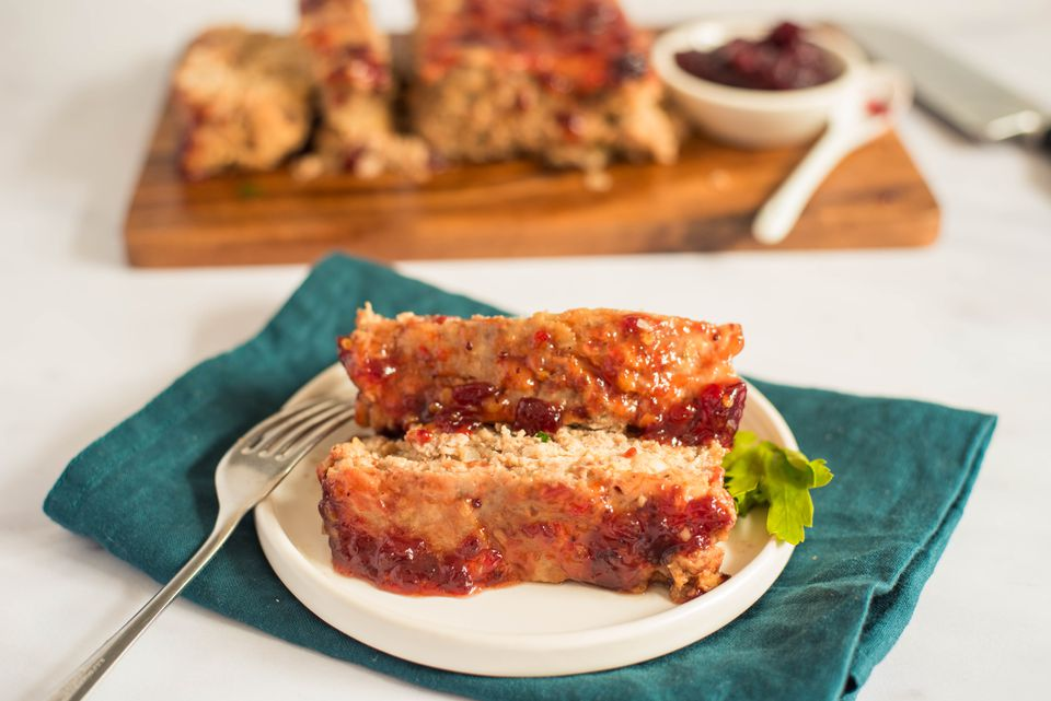Turkey meatloaf with cranberry ad chili sauce recipe
