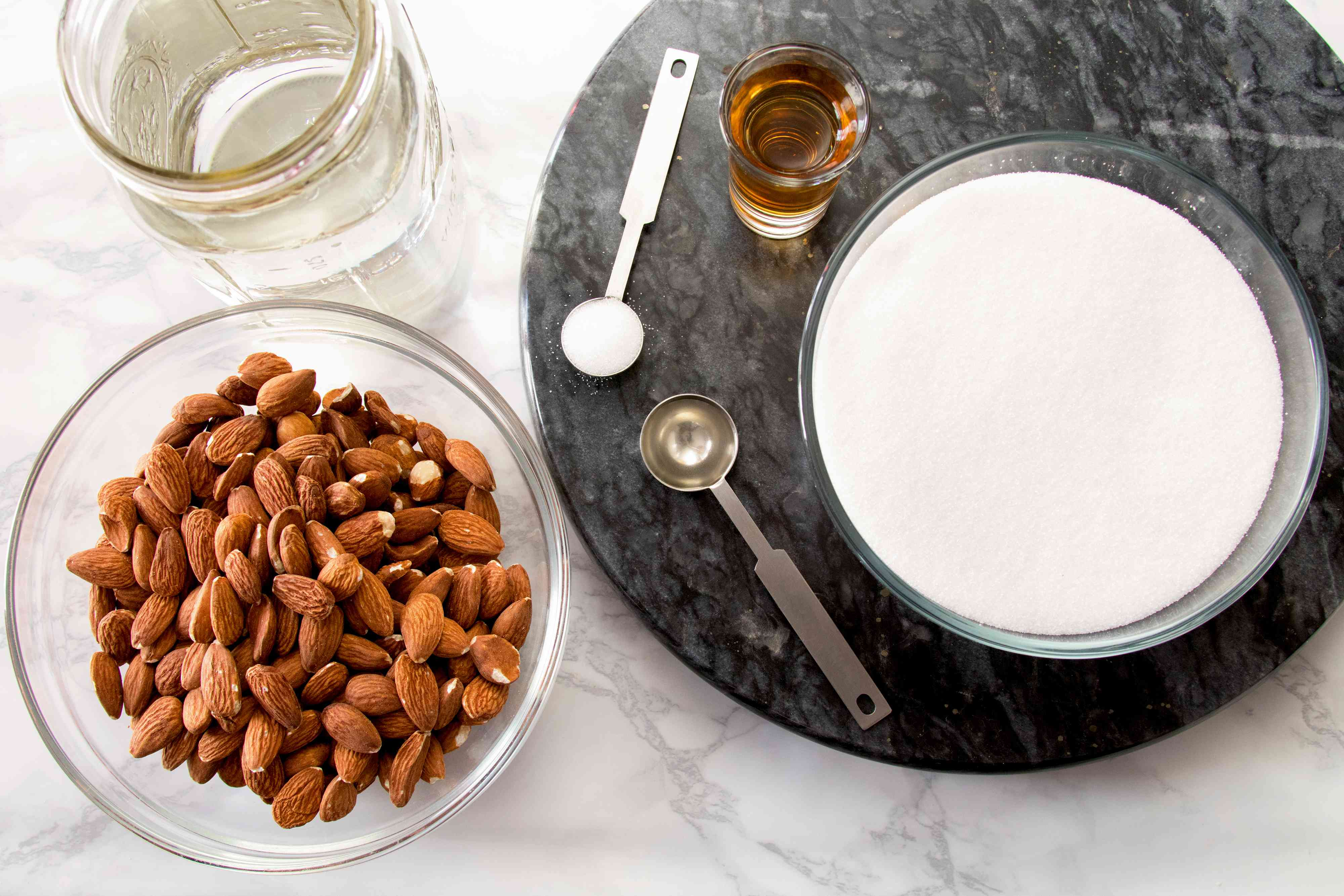 Ingredients for Homemade Orgeat Syrup