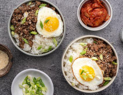 Korean Ground Beef Bowls