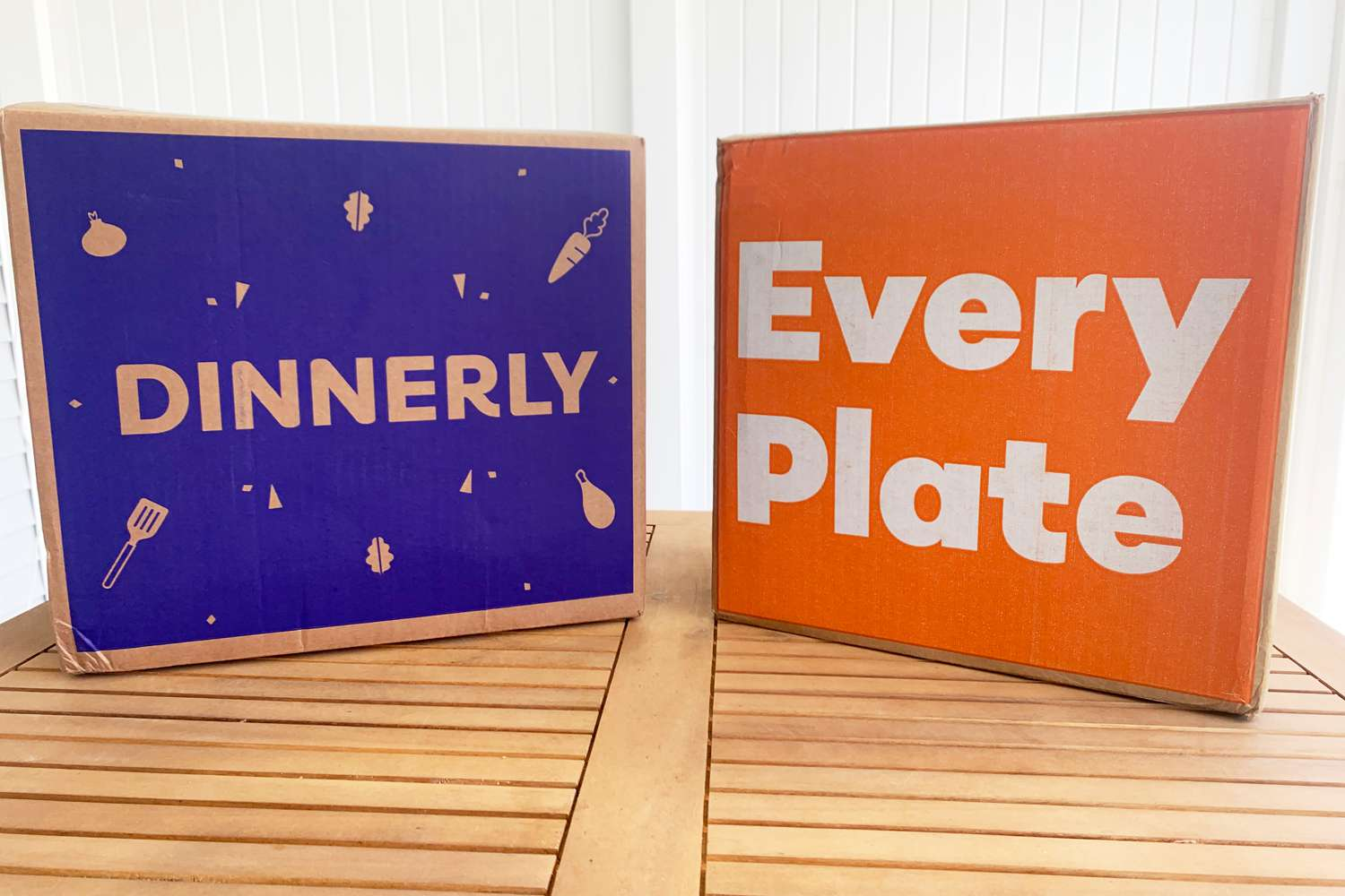 Dinnerly and EveryPlate boxes