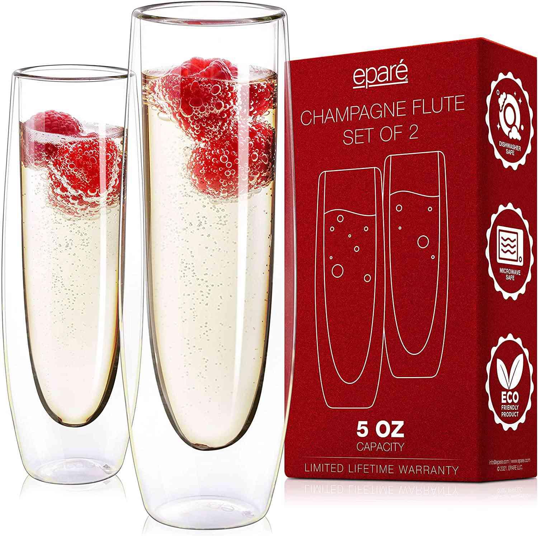 Epare Stemless Sparkling Wine Glasses