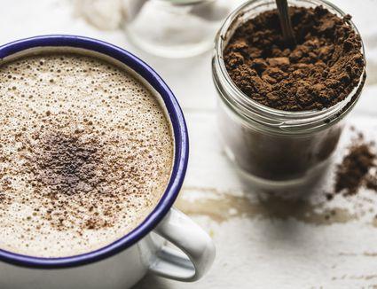 Hot Chocolate Close-Up - stock photo