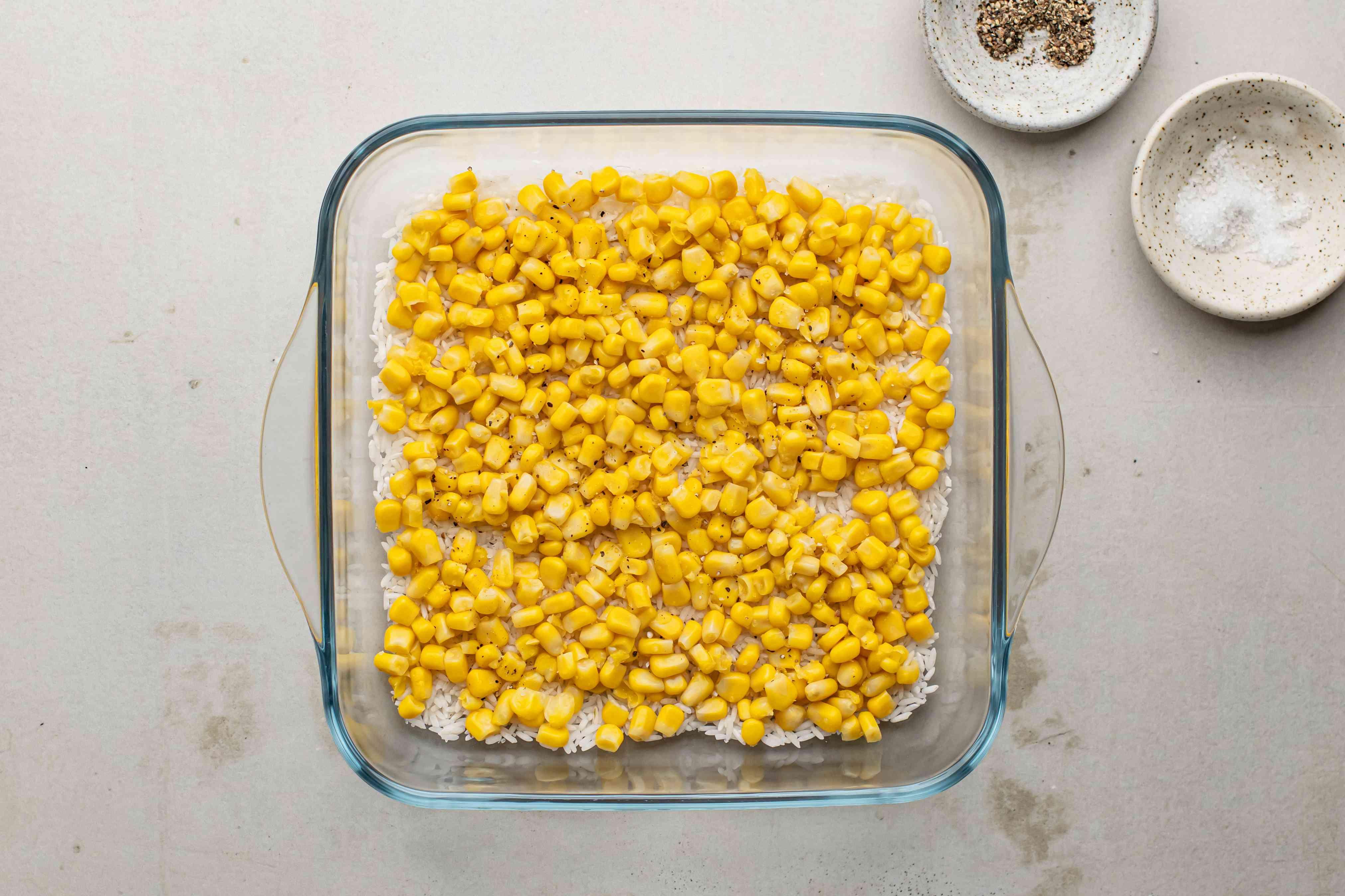 Corn in baking dish
