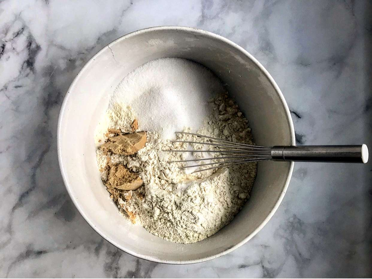 Mix the dry ingredients for the crust