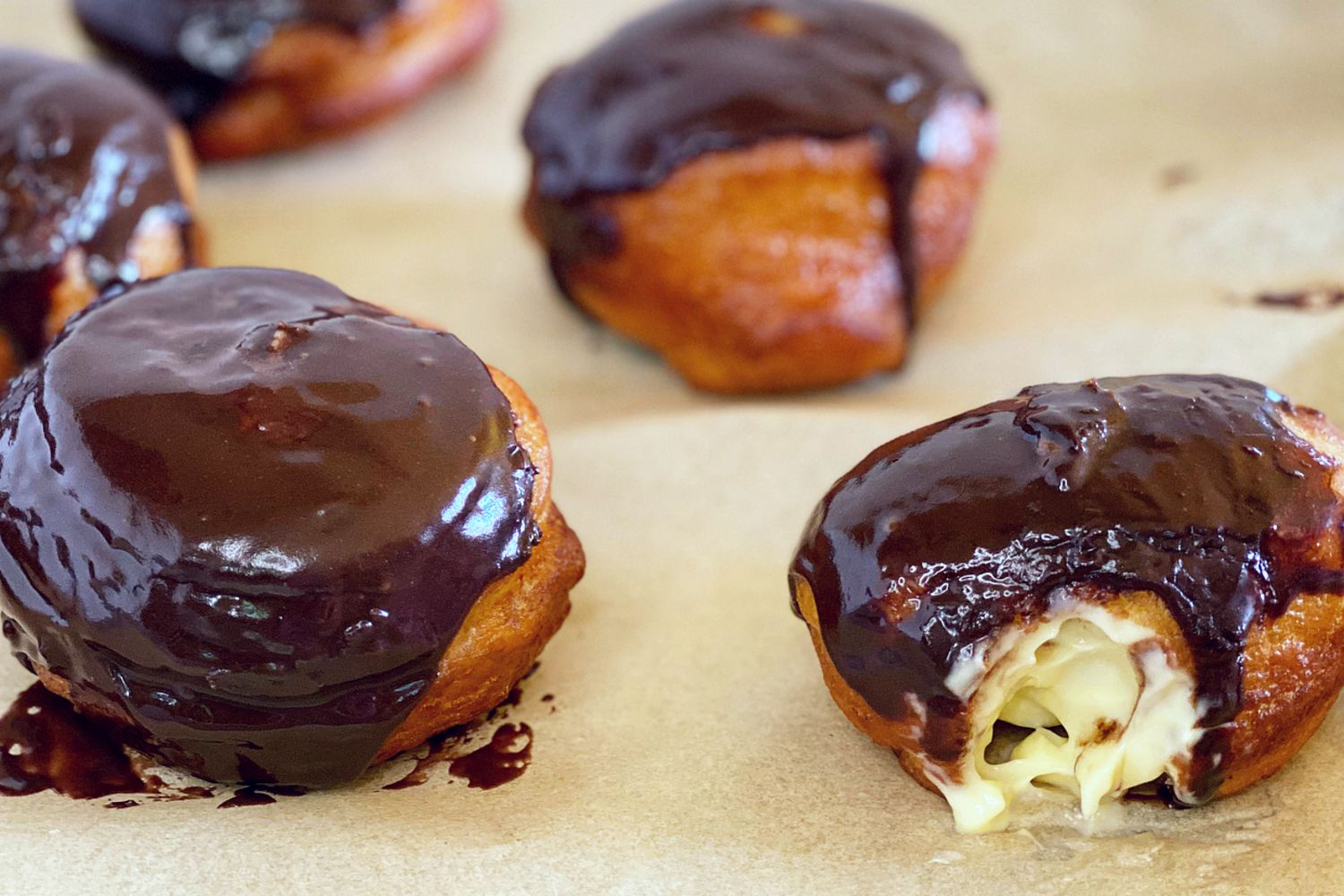Boston Cream Doughnuts