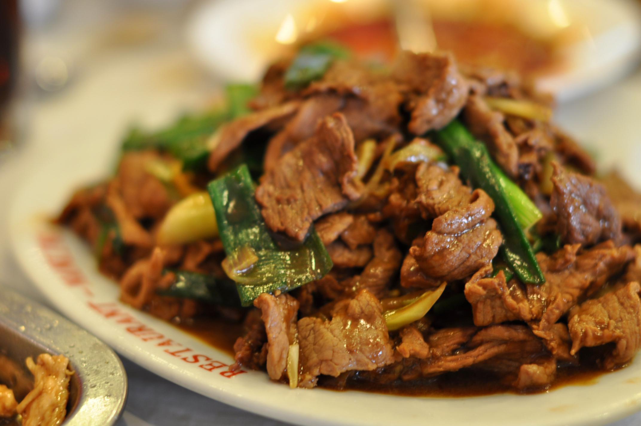 Mongolian Beef with Baby Corn