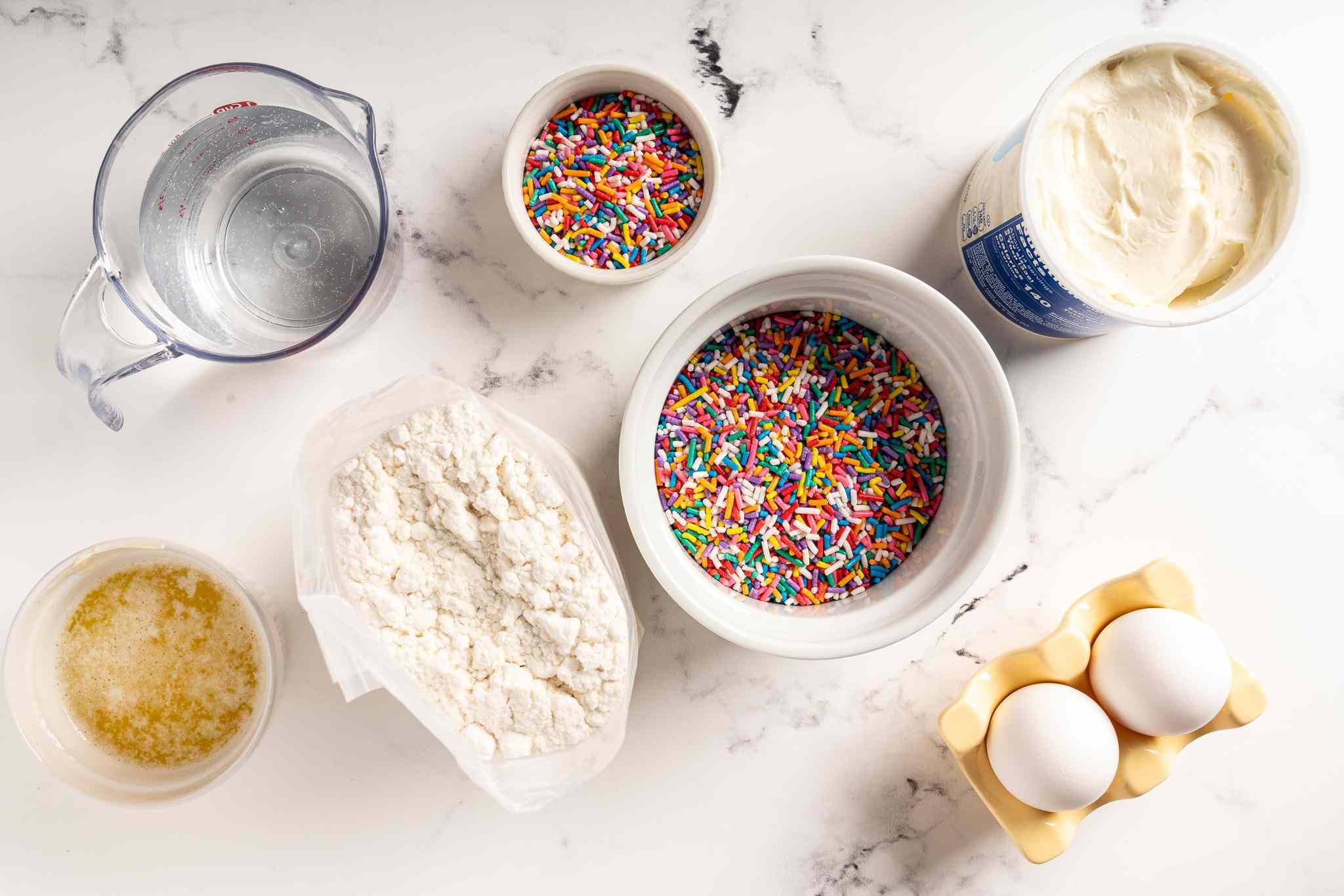 Funfetti Waffle Birthday Cake ingredients