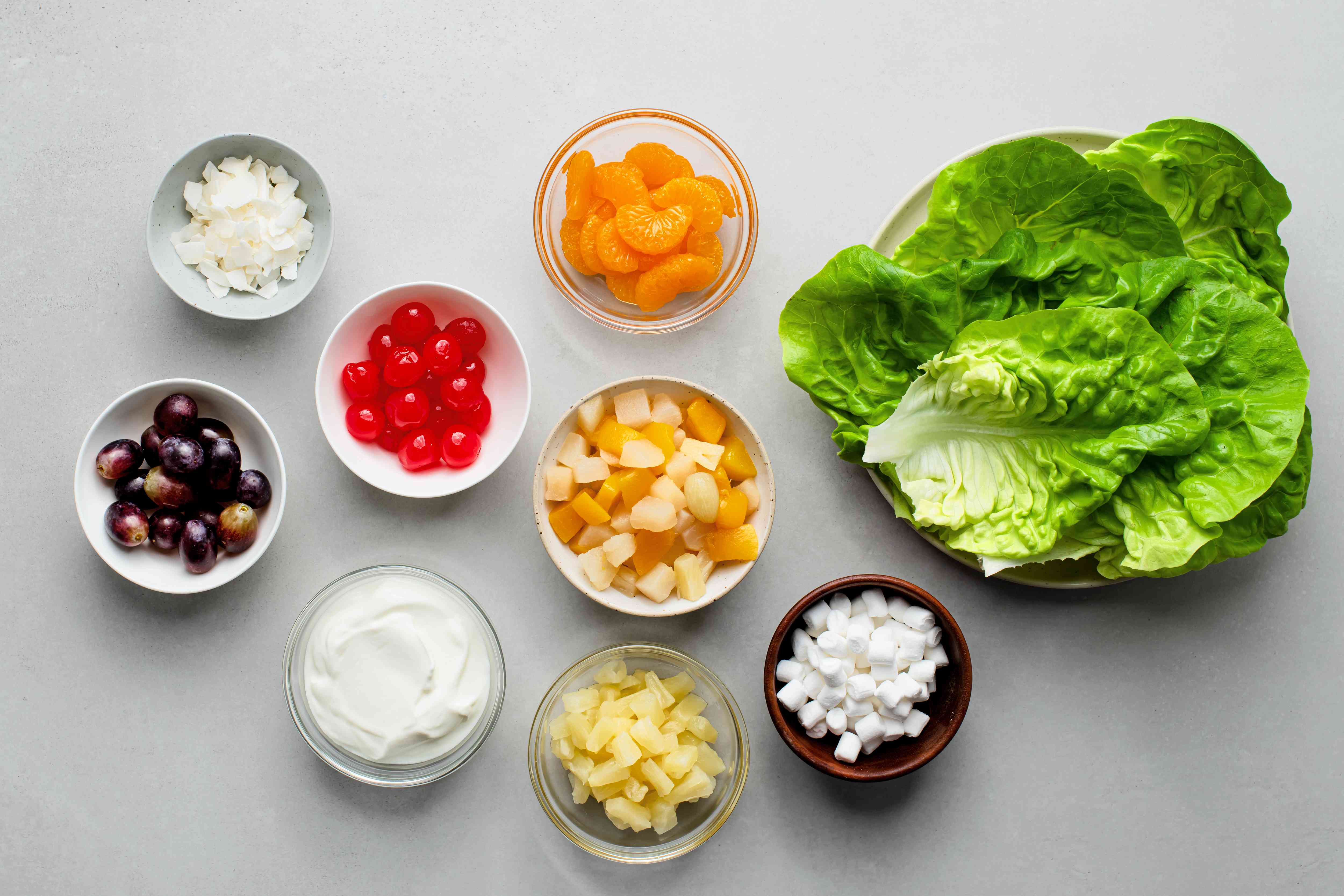 Ambrosia Fruit Salad With Sour Cream Dressing ingredients
