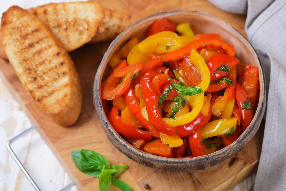 Garlic and Herb Sautéed Bell Pepper Strips