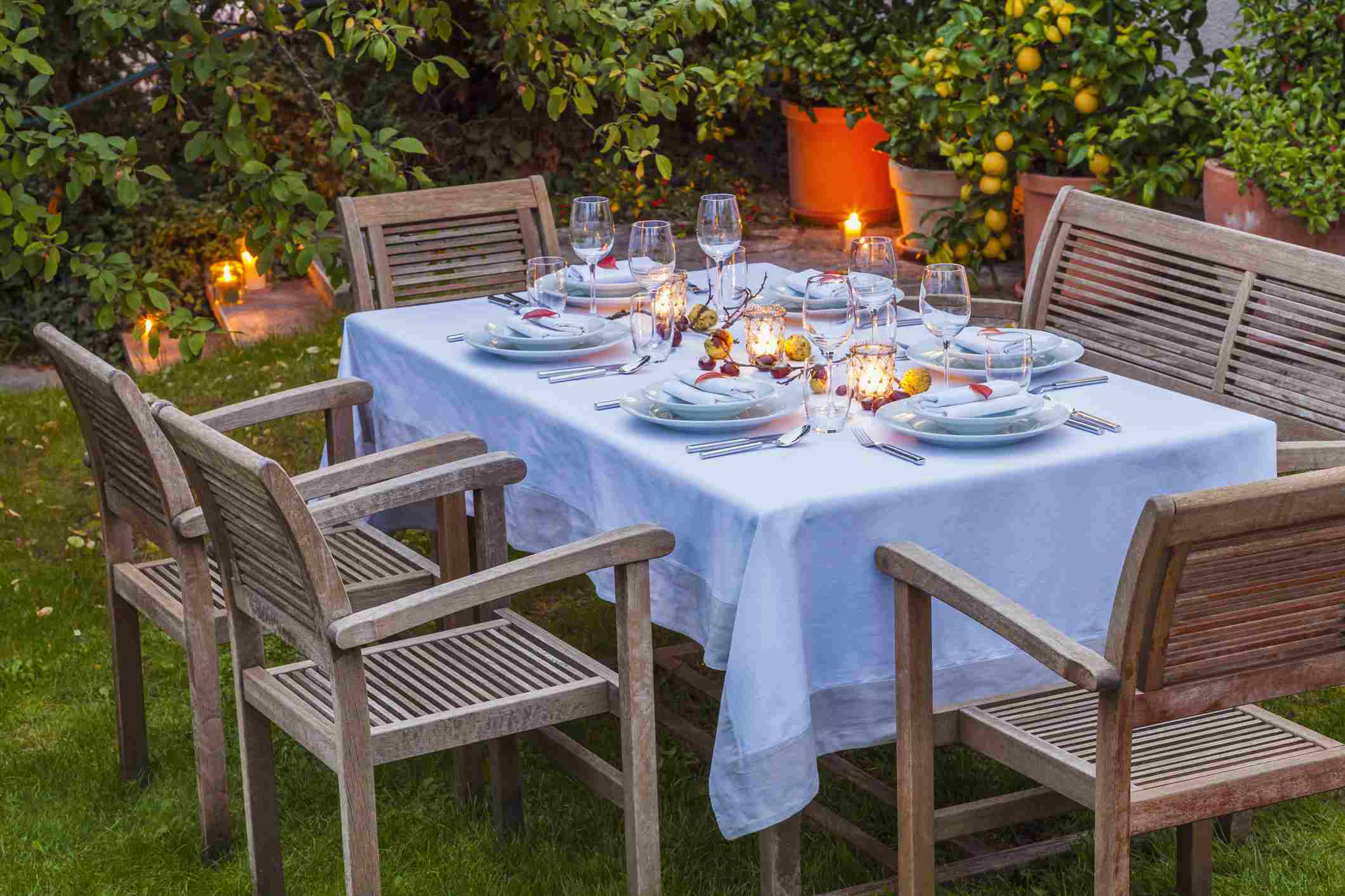 beautiful outdoor table