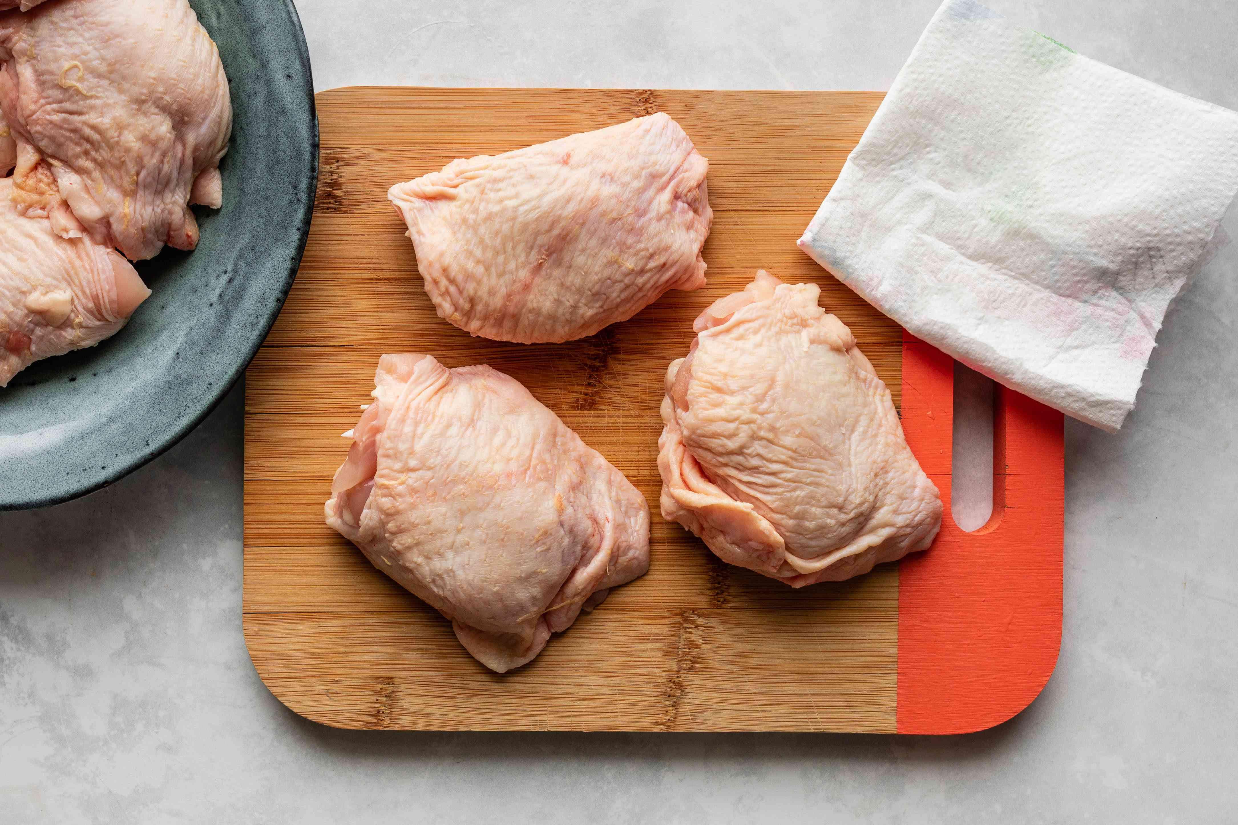Pat chicken