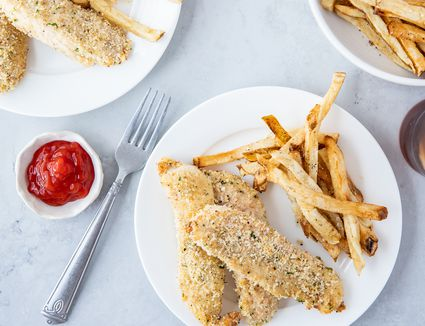Quick and Easy Garlic Baked Chicken Fingers