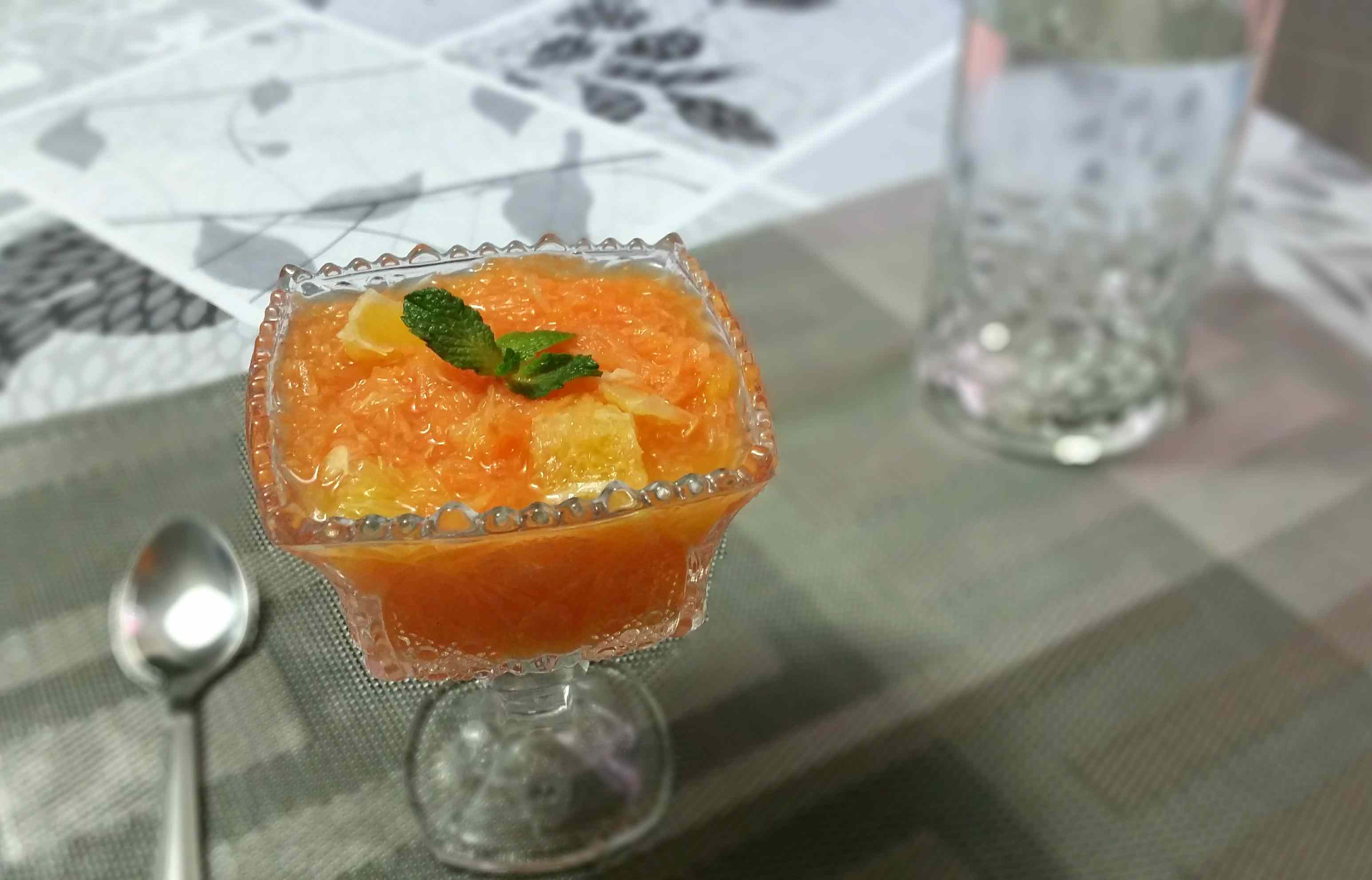 grated carrot and orange salad