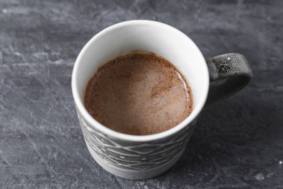 Instant Hot Cocoa Coffee in a cup