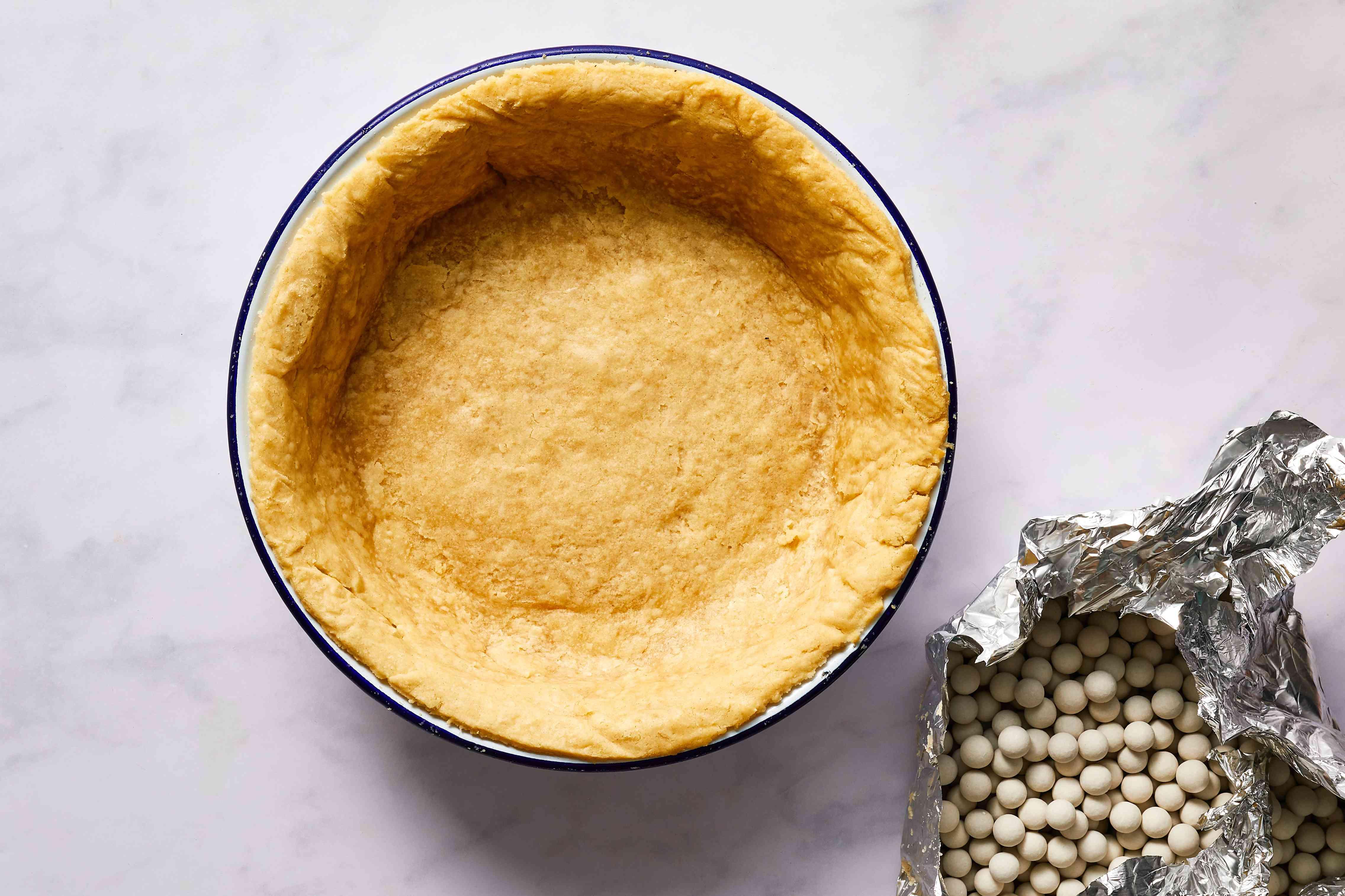 Easy Hot Water Pie Crust, blind baked