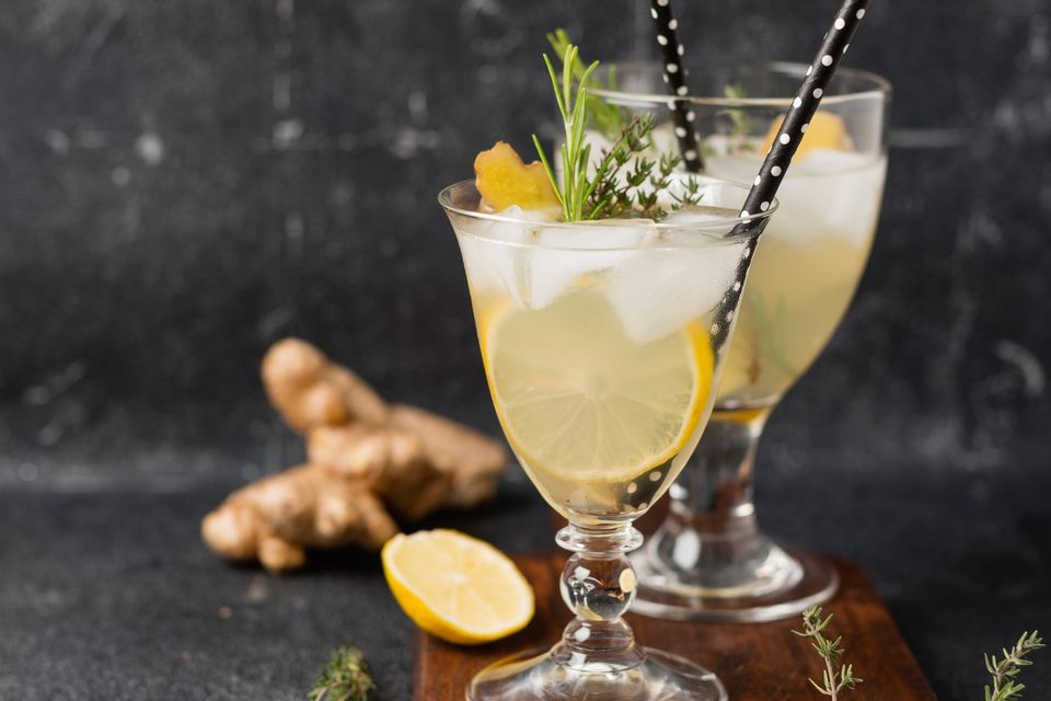 Old Thyme Sour Cocktail With Irish Whiskey