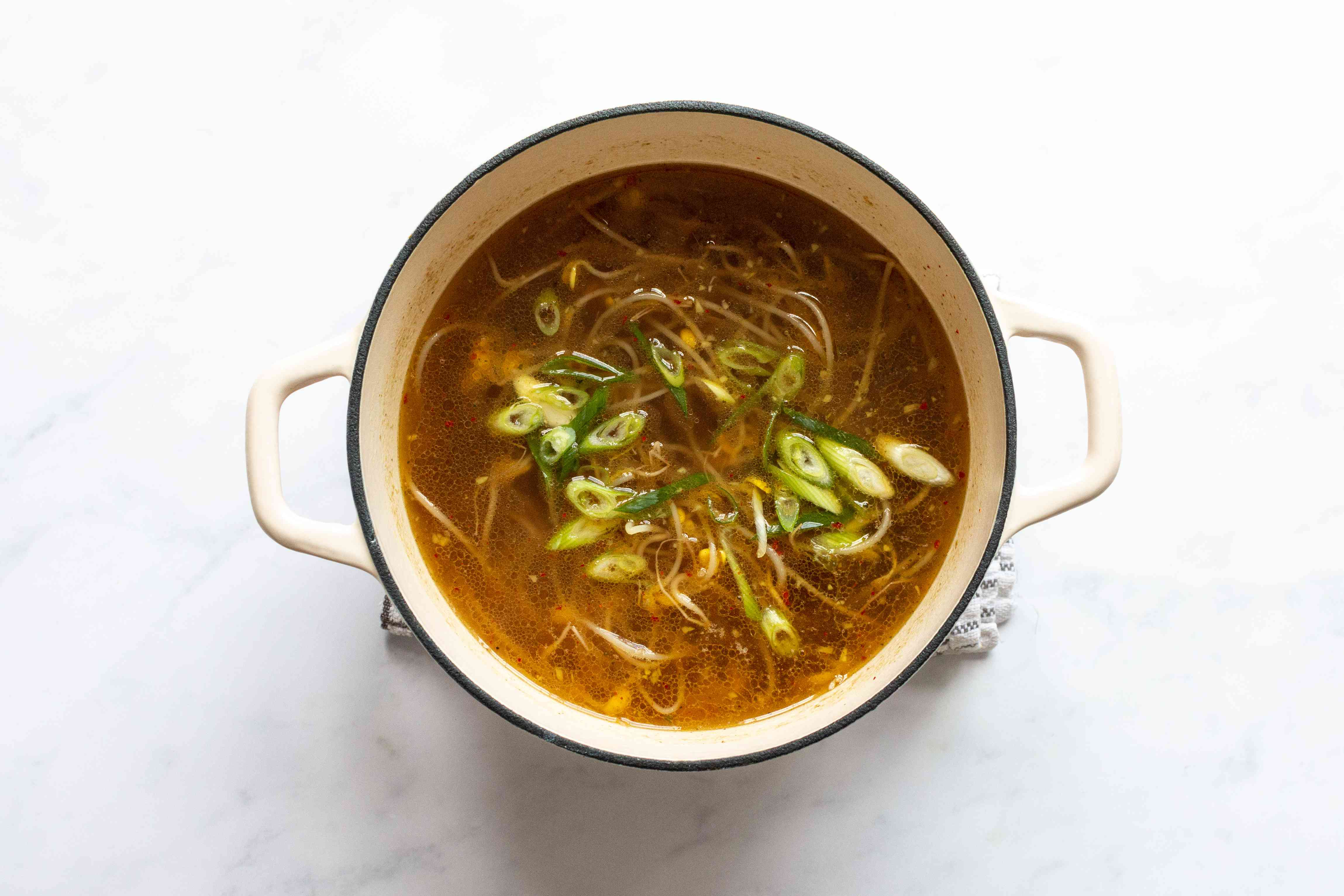 Korean Bean Sprout Soup (Kongnamul Guk) in a pot