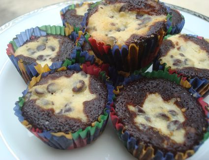 Chocolate and Cheesecake Cupcakes