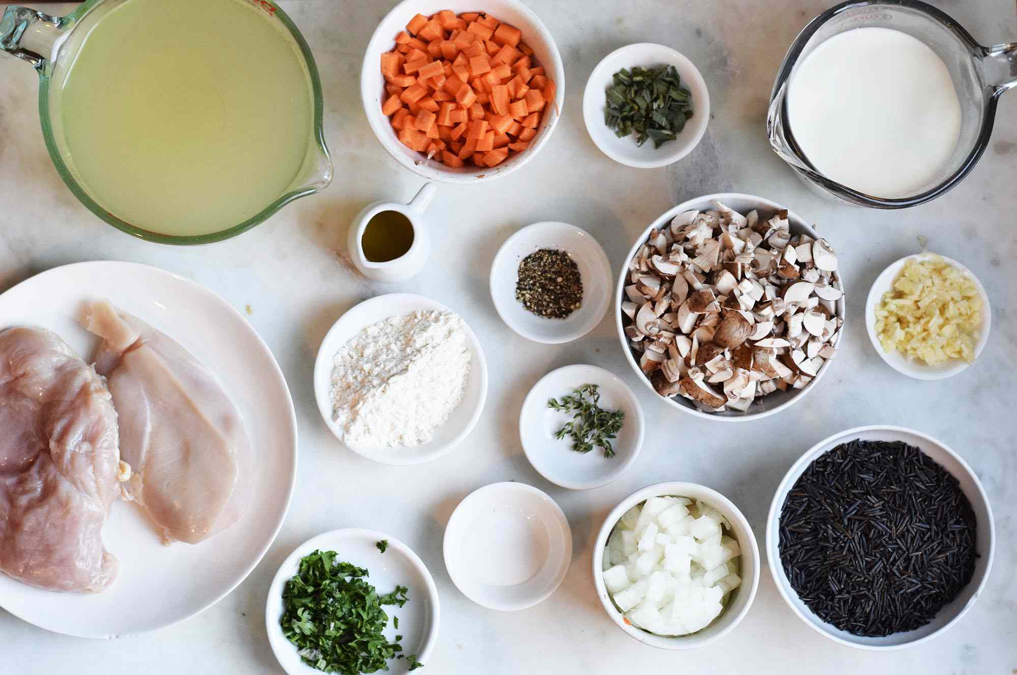chicken and wild rice soup ingredients