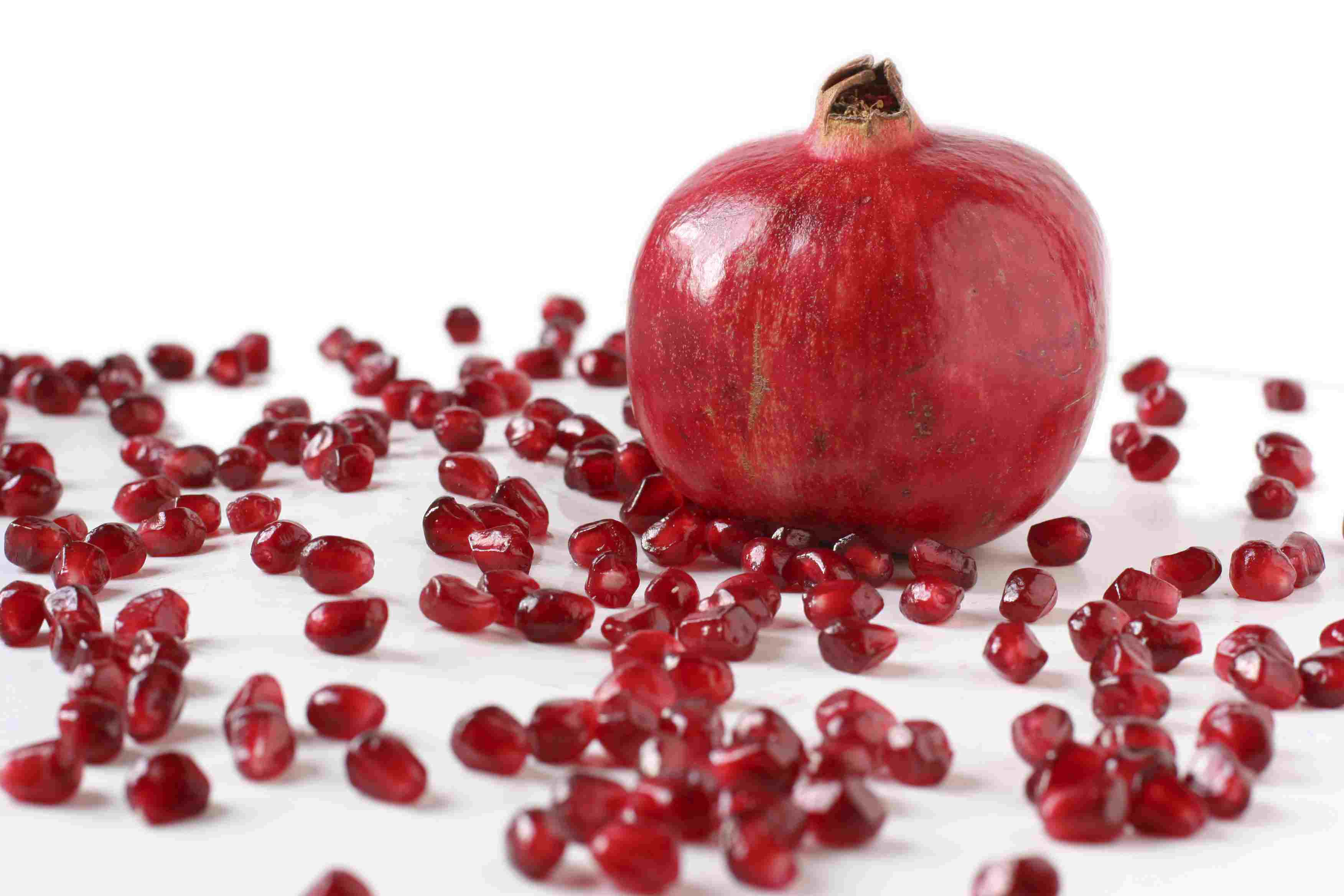 Whole Pomegranates and Seeds