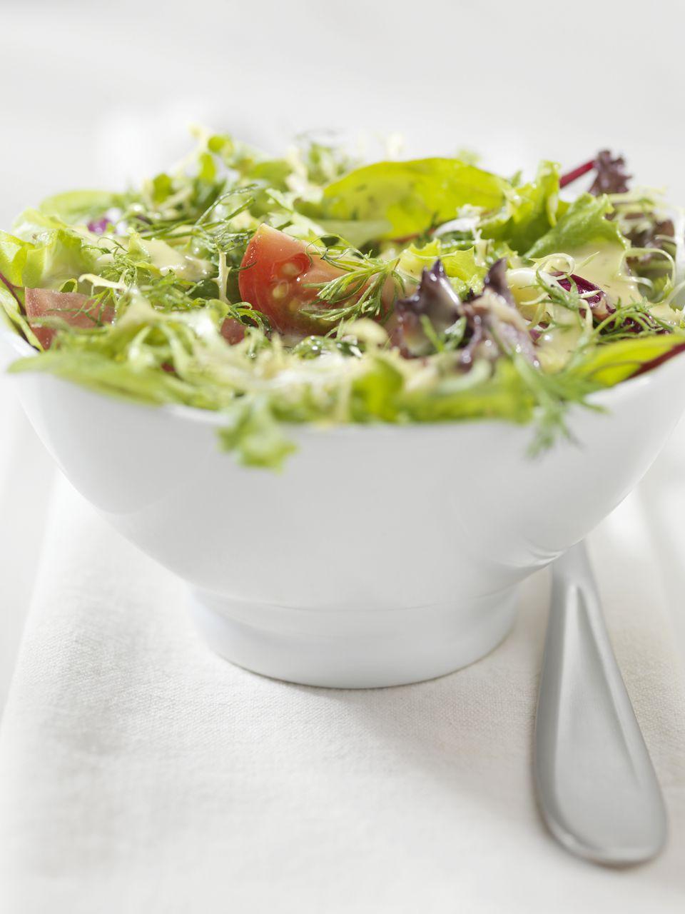Salad with Dijon vinaigrette