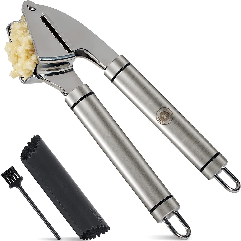 Alpha Grillers Garlic Press and Peeler Set