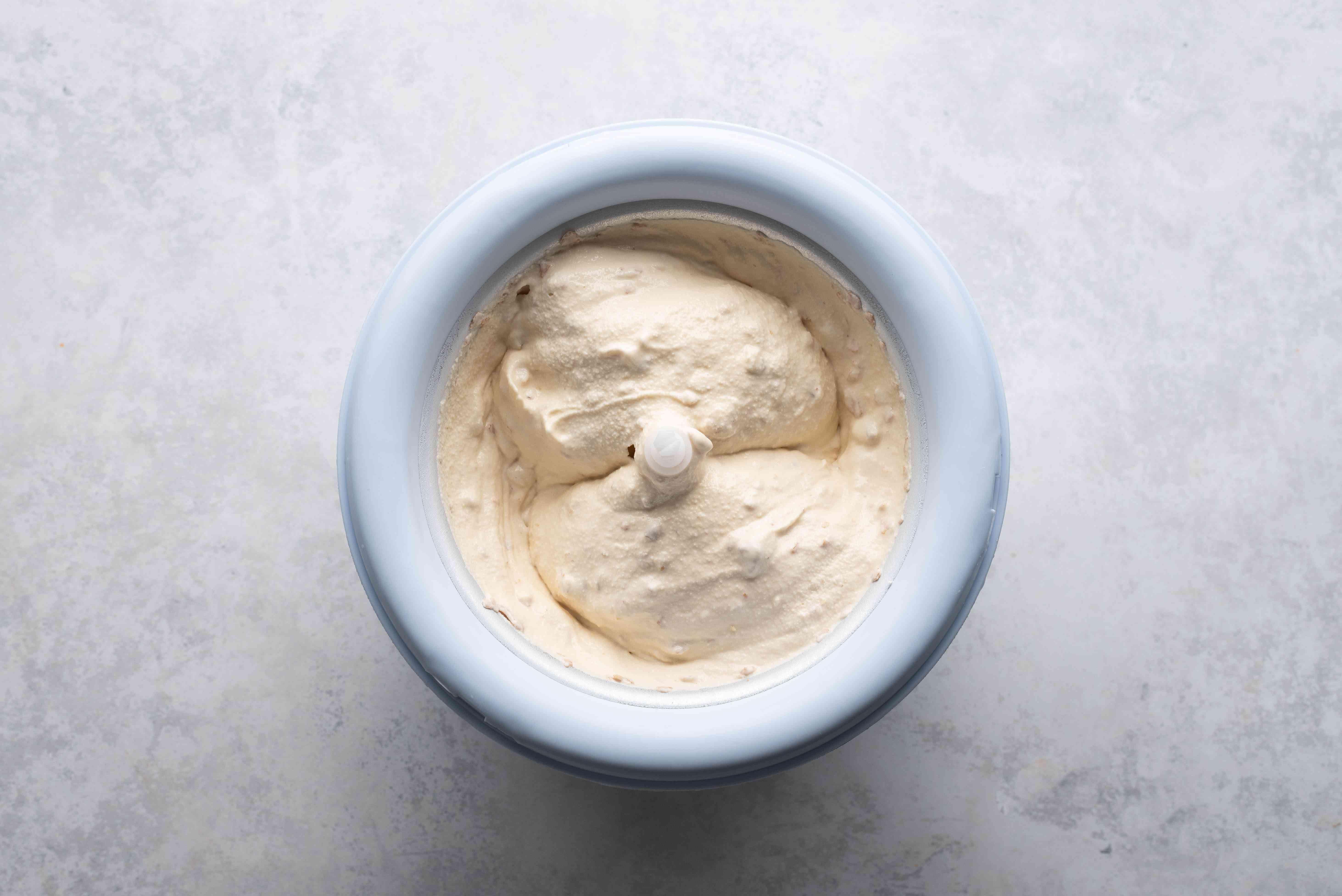custard in an ice cream machine