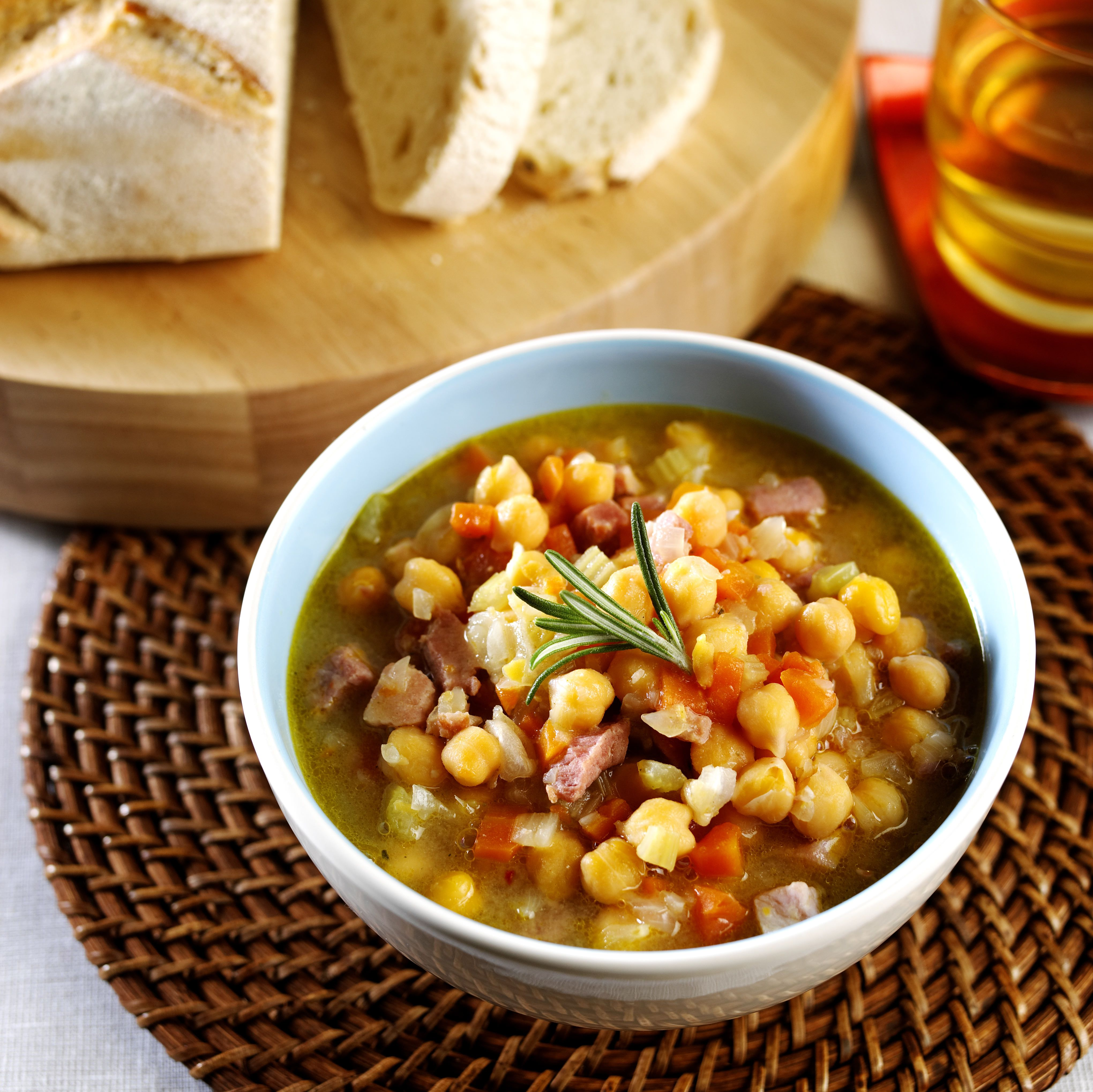 Ham and chickpea soup