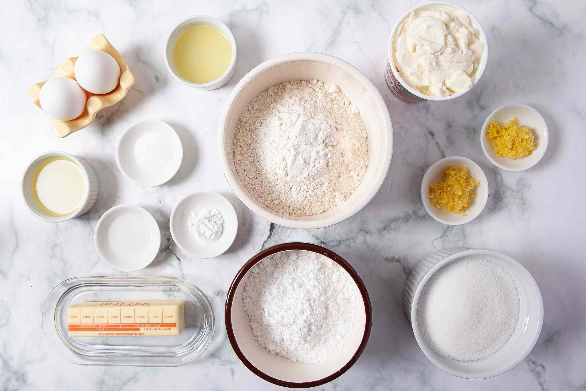 Lemon Ricotta Cookies ingredients
