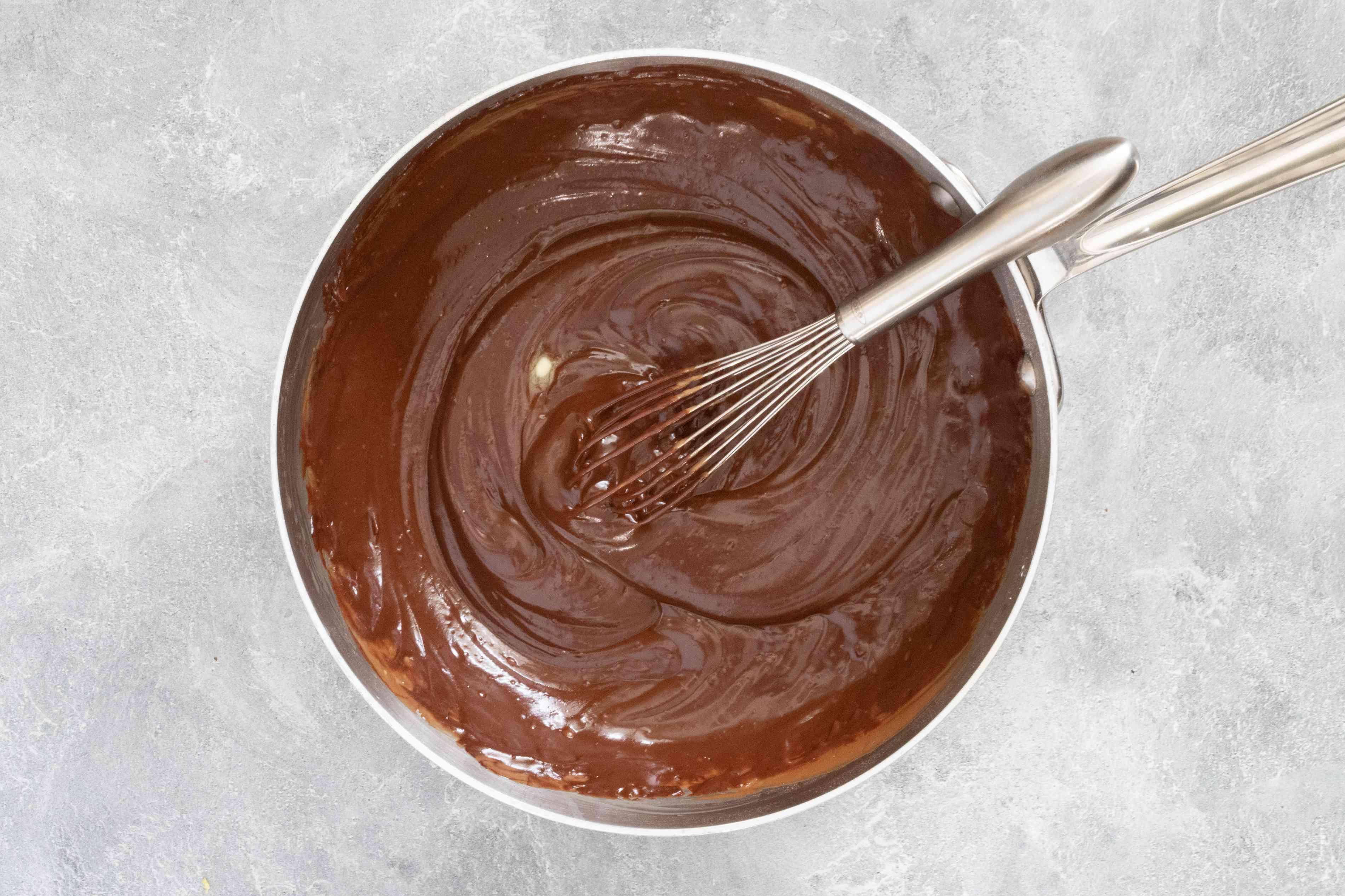 chocolate pudding for doberge cake