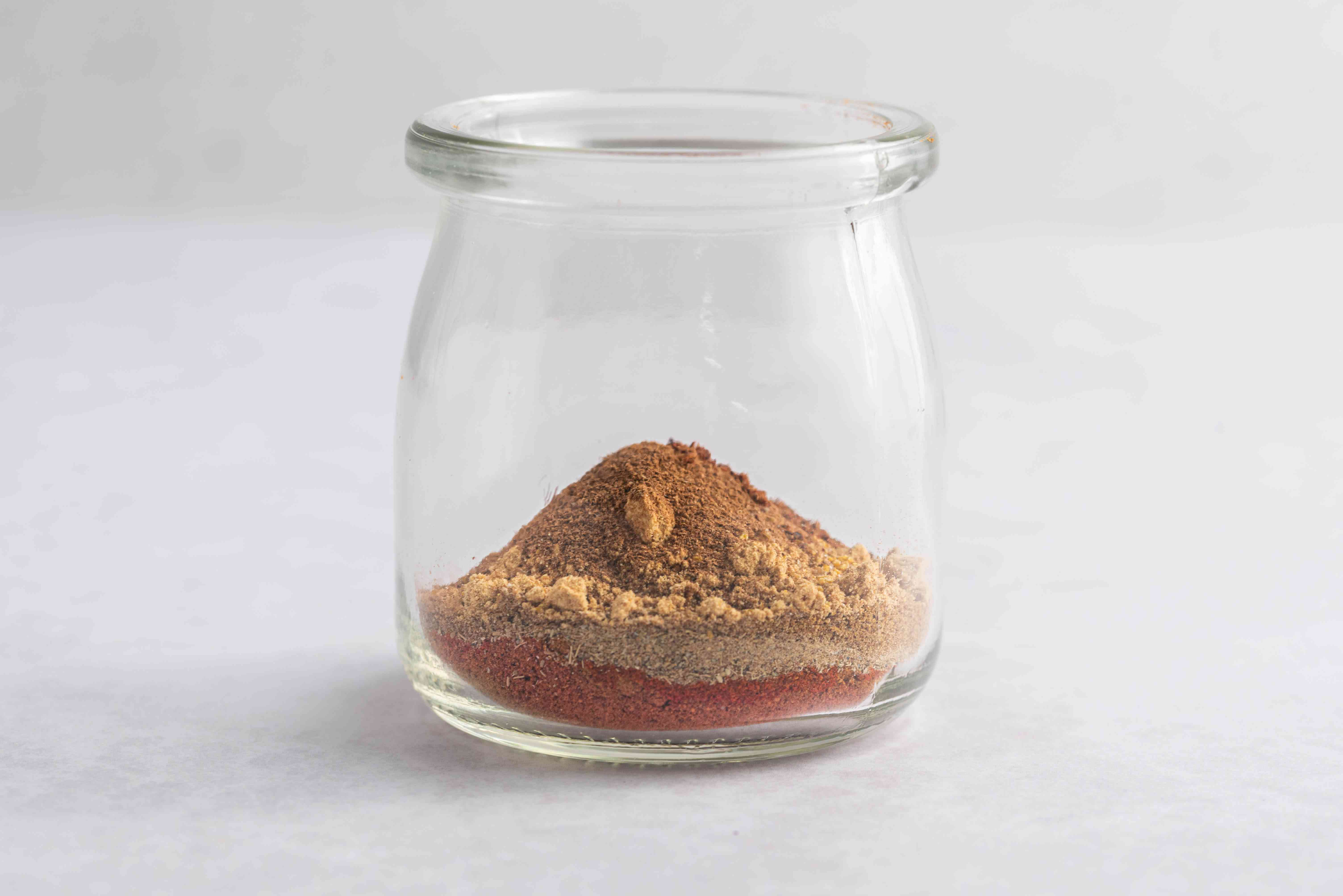 Clean and dry spice jar