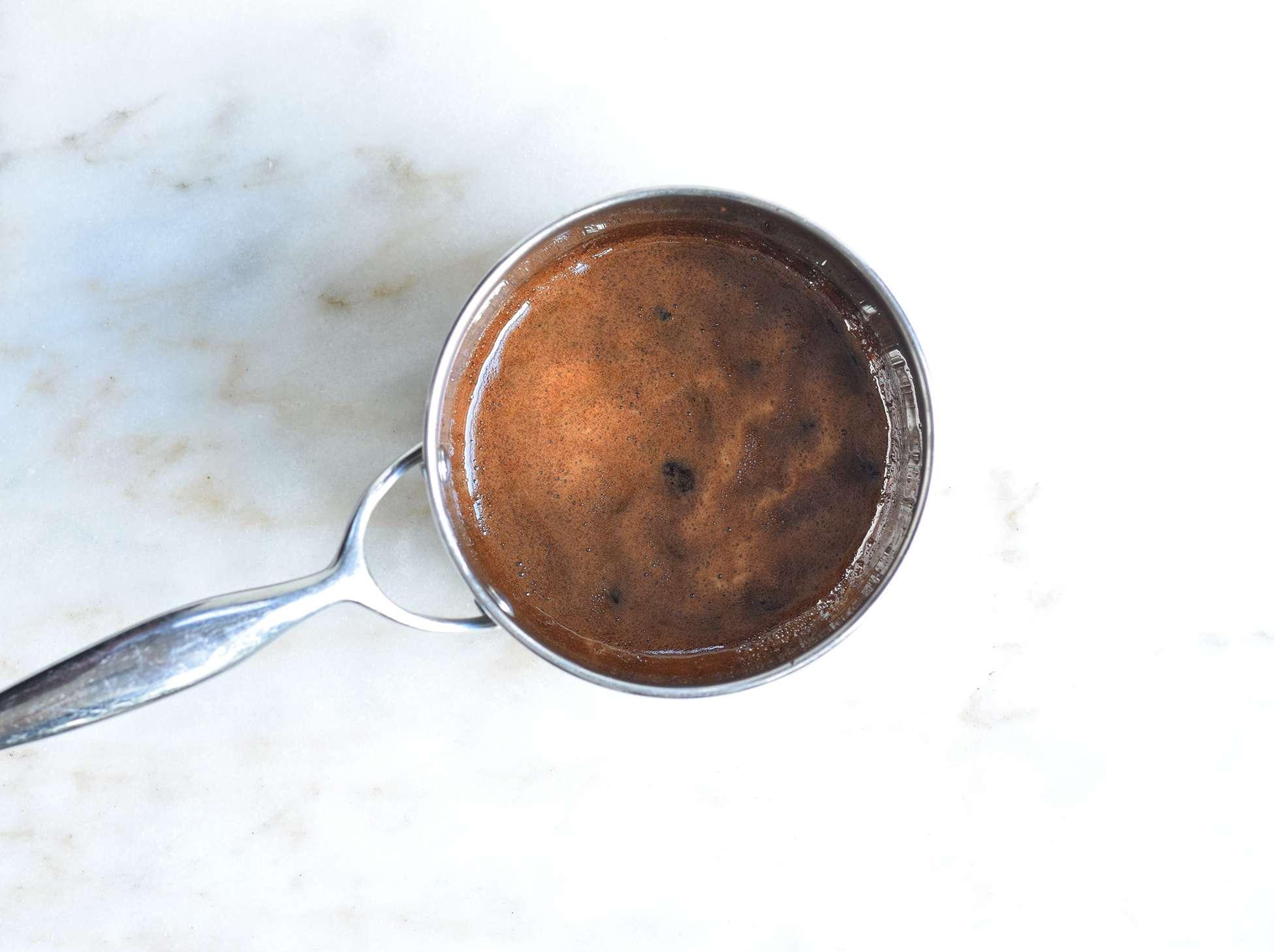 balsamic glaze in a saucepan