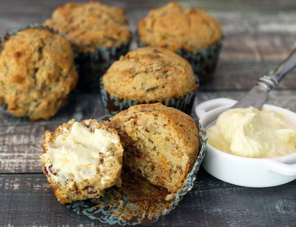 Carrot Muffins With Orange Cream Cheese Spread