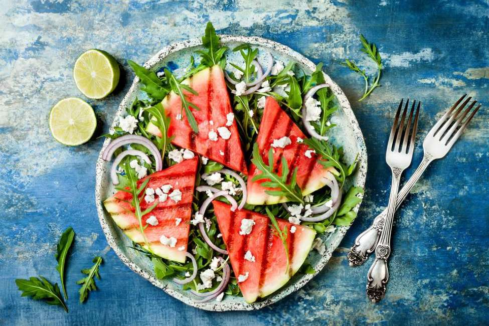 French Grilled Watermelon