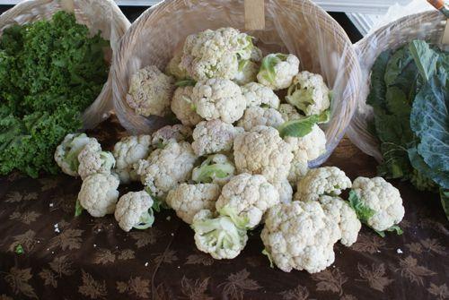 Cauliflower at Market