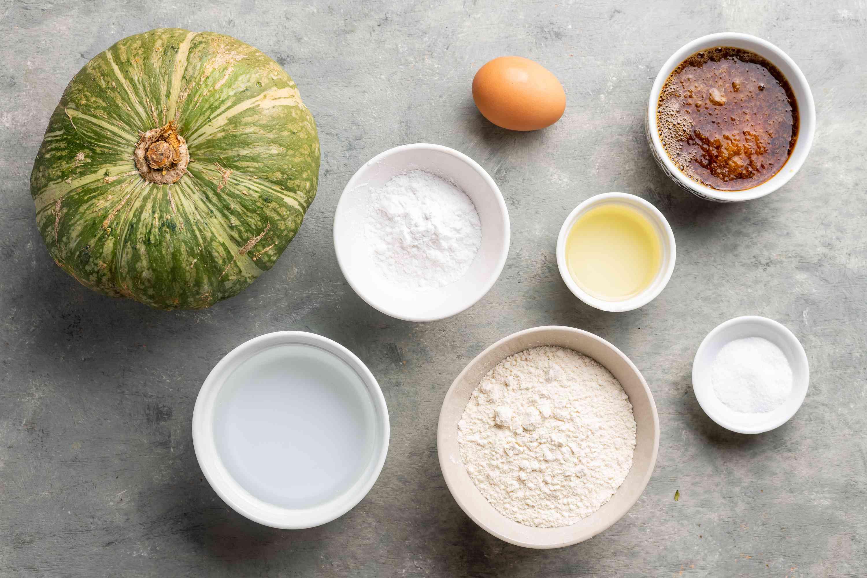 Kabocha Tempura ingredients