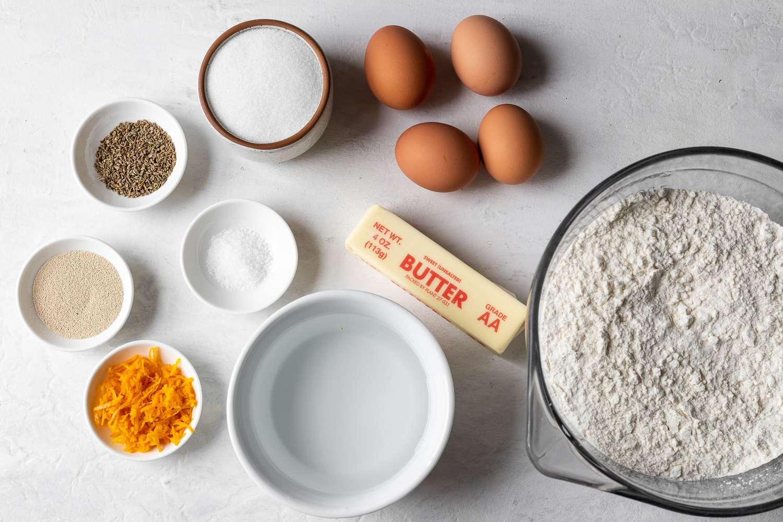 Ingredients for pan de muerto