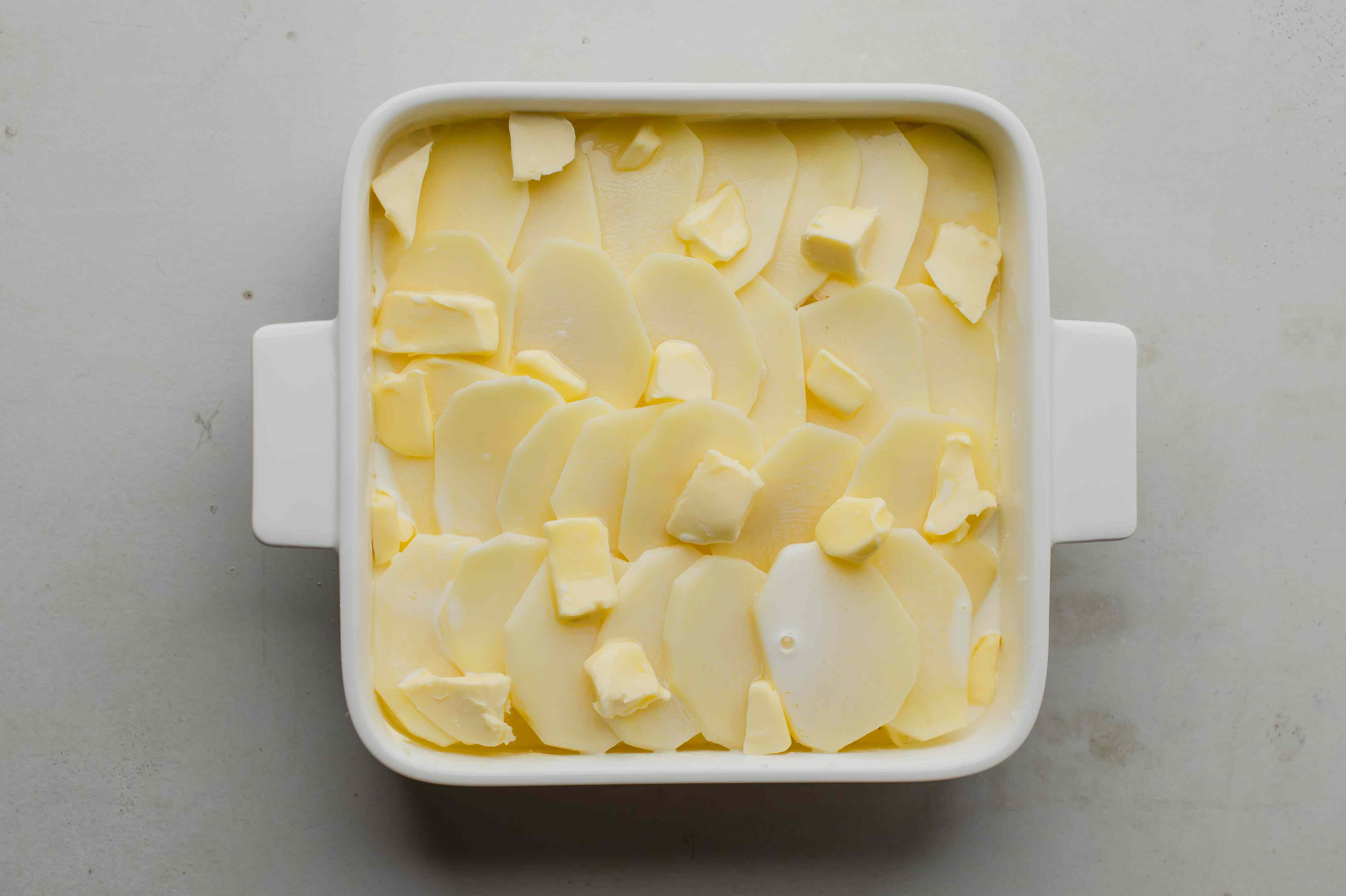 Butter on potatoes