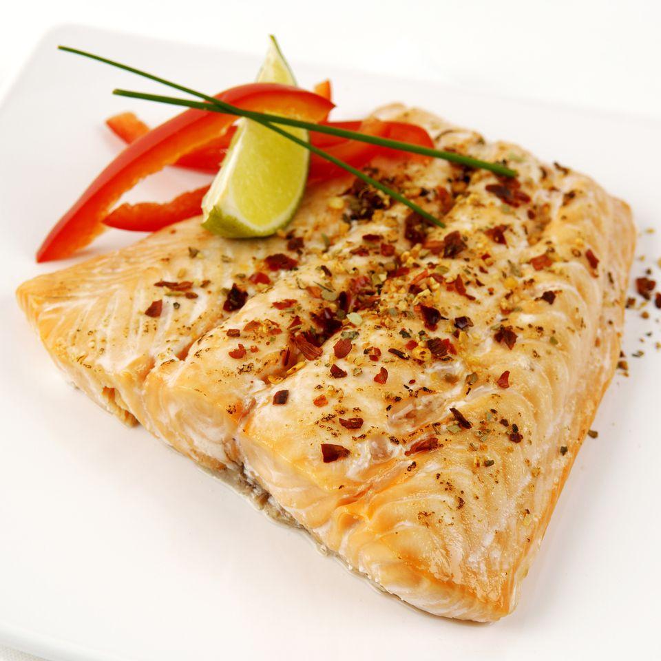 Salmon in a Soya, Honey-Ginger Sauce