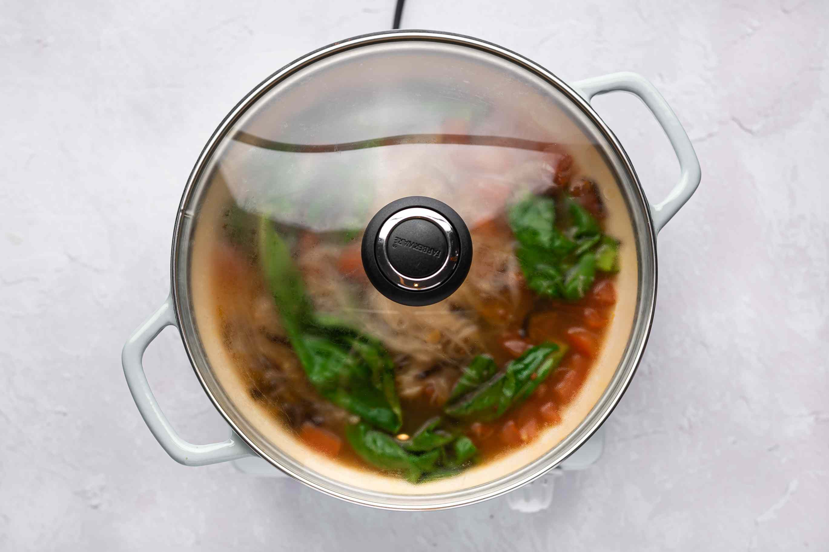 Lunar New Year Longevity Noodles: Misua Soup in a covered pot