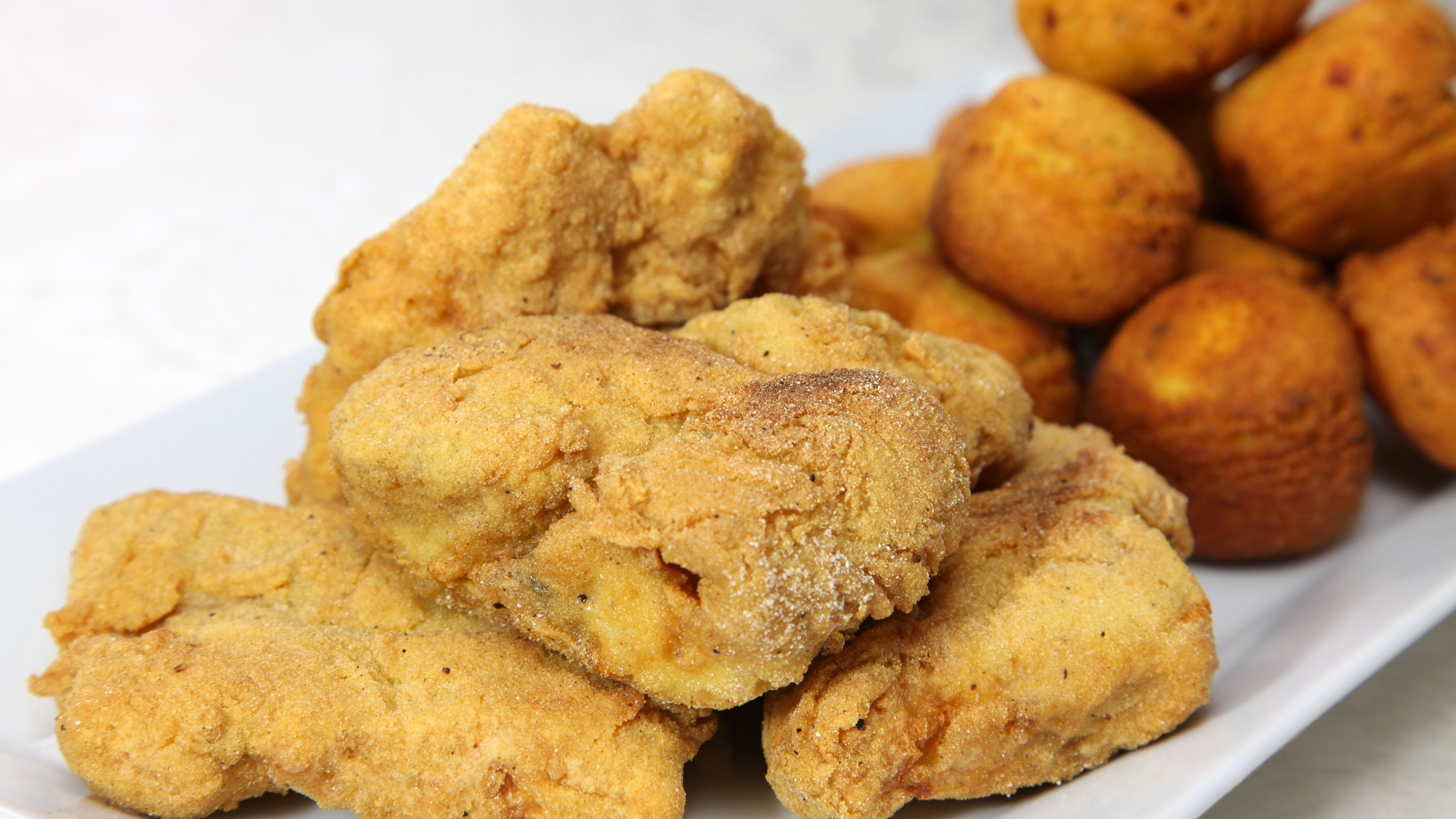 Basic Deep Fried Catfish Fillets With Hush Puppies