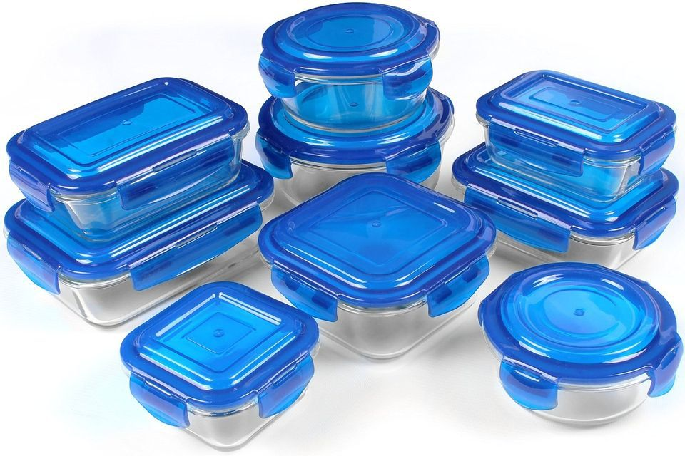 Gl Food Storage Container Set Blue Bpa Free Fda Roved Reusable