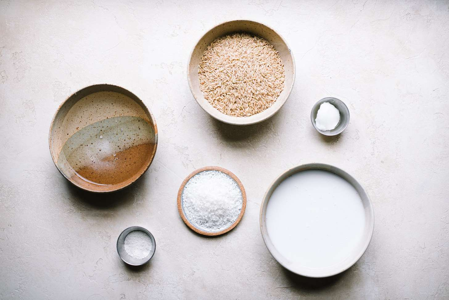 Ingredients for brown coconut rice