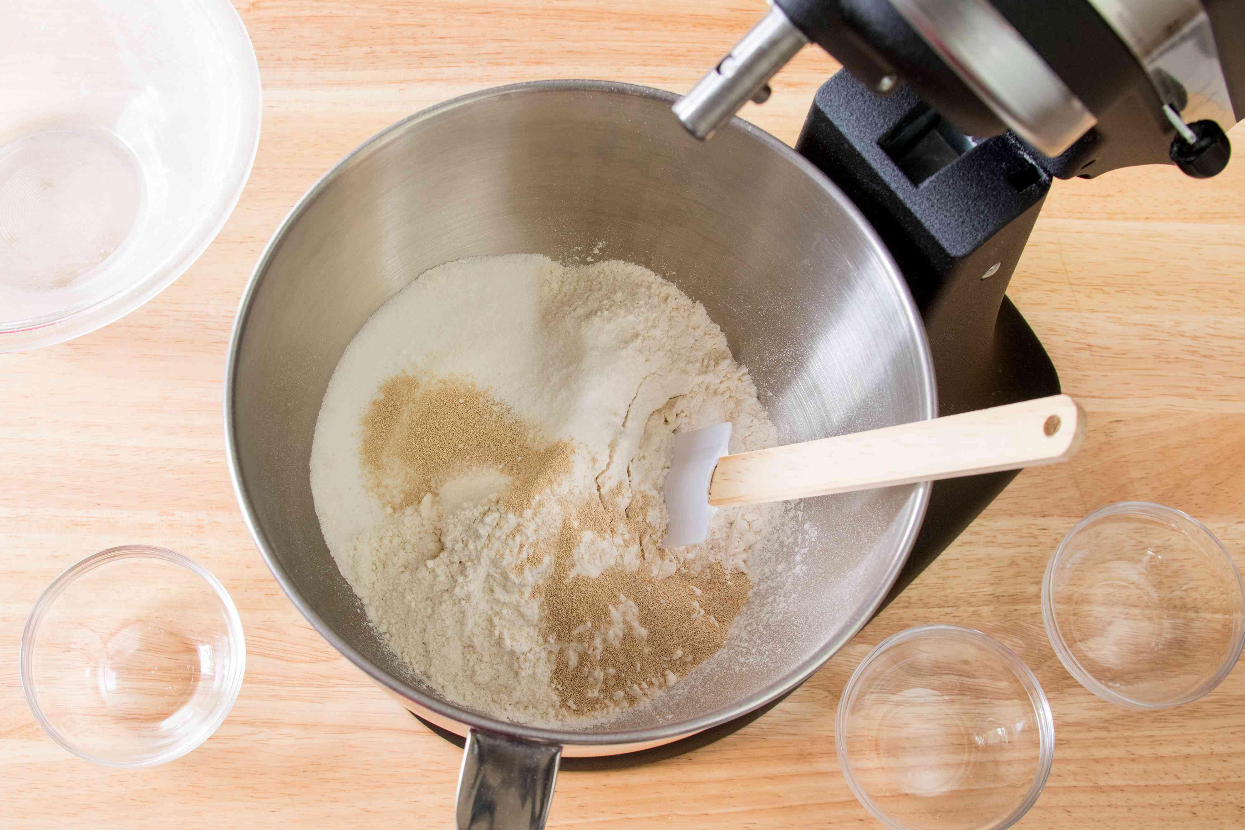 Mixing Croissant Dough