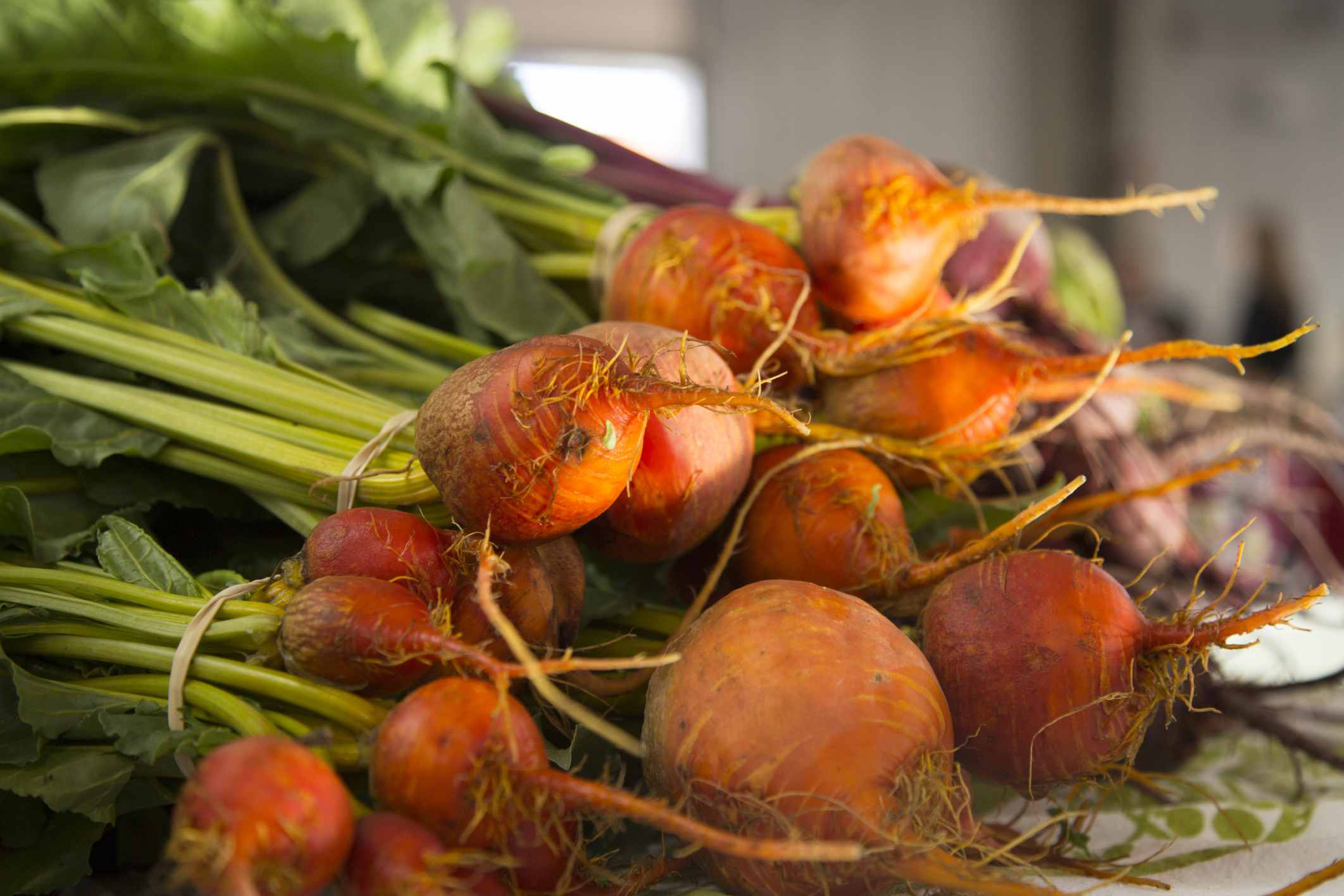 Yellow Beets with Greens