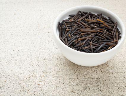 long-grain wild rice in bowl