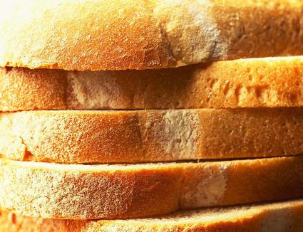 Sliced white loaf of bread